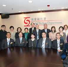The Lok Sin Tong Benevolent Society, Kowloon – Visit to Social Welfare Department